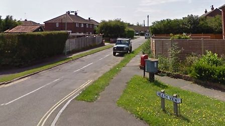 Heath View in Leiston, where a fire has been reported. Picture: GOOGLE