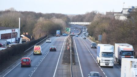 The A14 near Bury St Edmunds is one of the areas campaigners would like to see improved. Picture: GR