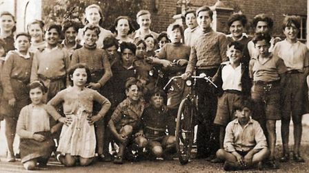 Some of the Basque child refugees pictured during their stay in Wickham Market. Picture: BCA'37