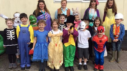 Class one pupils at Charsfield Primary School dressed as their favourite book characters. Picture: C