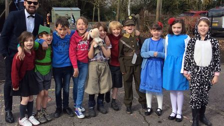 Class two pupils at Charsfield Primary School dressed as their favourite book characters. Picture: C