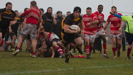 Zak Loader scored a brace of tries for Southwold. Picture: LINDA CAYLEY