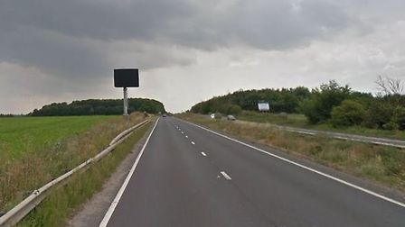The crash happened on the A14 between Bury St Edmunds and Rougham. Picture: GOOGLE
