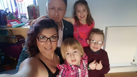 Christina Lofthouse with Sophia and family. Picture: SUPPLIED BY FAMILY