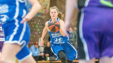 Point guard Ashleigh Pink had a great game for Ipswich against Worcester. Picture: PAVEL KRICKA