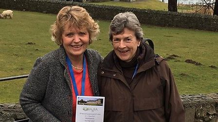 Jenny Pine, IAgSA Suffolk chairman, and Budge English of the North Wales Conference Team. Picture;
