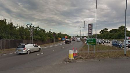 The accident happened on the A130 in Essex. Picture: GOOGLE