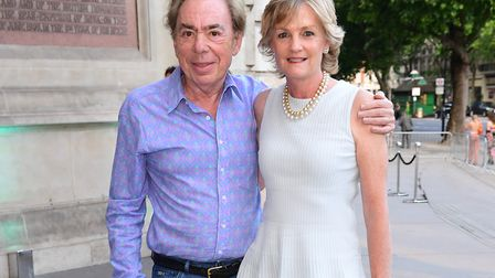 Andrew LLoyd Webber and wife Madeleine Gurdon. Picture: PA/IAN WEST