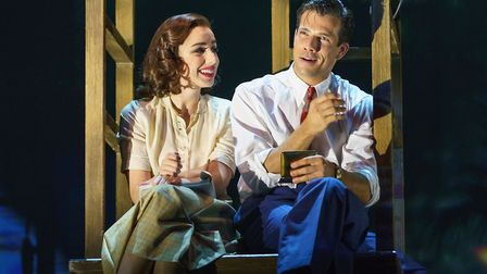 Molly Lynch as Betty Schaefer and Danny Mac as Joe Gillis in Sunset Boulevard, which recently visite