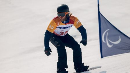 Suffolk's Owen Pick in action in the Winter Olympics. Picture: SPORTSBEAT