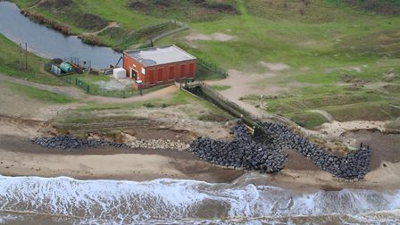 The aftermath of the 2013 tidal surge at the Benacre pump. Picture: MIKE PAGE