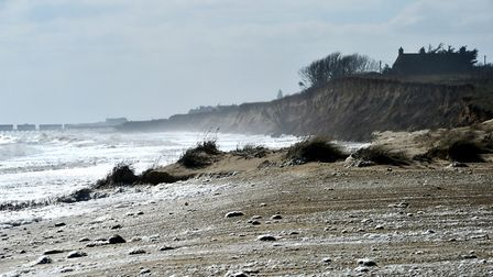 Easton Bavents near Southwold has also suffered erosion this winter. Picture: SARAH LUCY BROWN