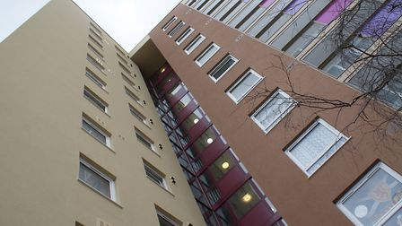 Cumberland Towers has had a £1.8m makeover. Picture; IPSWICH BOROUGH COUNCIL