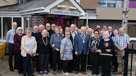 Tenants and councillors joined deputy mayor Roger Fern at the reopening party following the refurbis