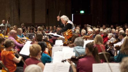 Trainon orchestra and choir will return for a themed concert on April 21. Picture: GEOFF ROGERS