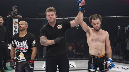 Corrin Eaton hopes to have his hand raised again at Cage Warriors 92 on Saturday. Picture: JERRY DAW