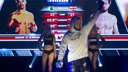 Corrin Eaton is aiming for the Cage Warriors featherweight title - and a move to the UFC. Picture: J