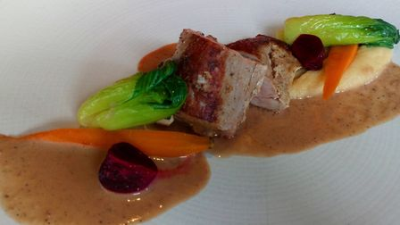 Pork loin with Szechuan pepper sauce. Picture: Charlotte Smith-Jarvis