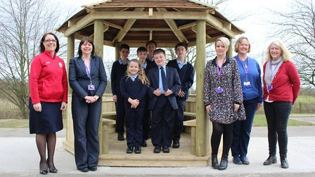 The new outdoor classroom at Churchill Special Free School in Haverhill