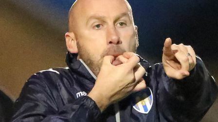 Colchester United boss John McGreal will try to plot Stevenage's downfall. Picture: STEE WALLER