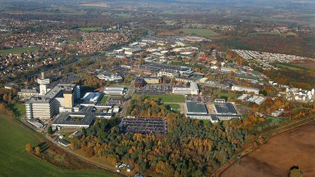 BT's Adastral Park research and development site at Martlesham Heath. Picture: Mike Page