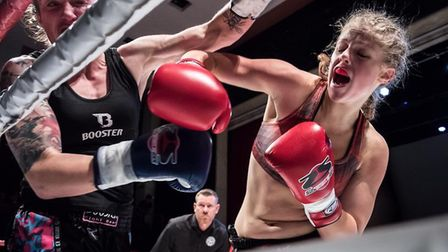 Hannah Turner, right, is one of the best young fighters in the country. Picture: SUPER FIGHT SERIES