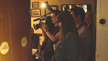A Japanese film crew captures every day goings on in the Low House at Laxfield for a programme in 20