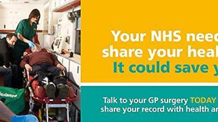 People are being encouraged to share their patient records for emergencies. Graphic: NHS SUFFOLK