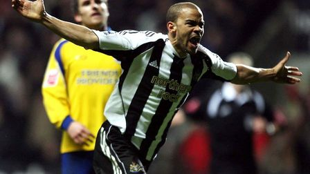 Newcastle United's Kieron Dyer celebrates a goal. He was a talented player, whose career was hampere