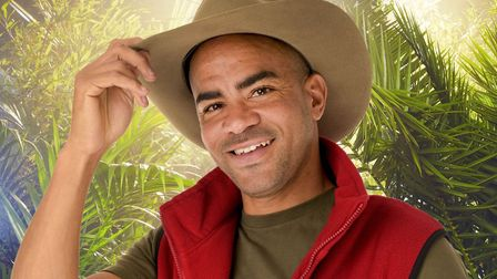 Kieron Dyer goes in the jungle, where he made friends with Lady 'C', who was at the launch of his ne