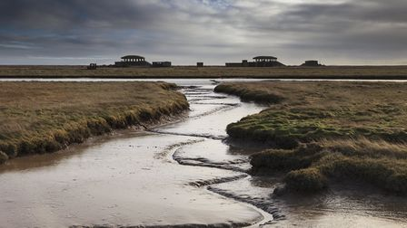 """A view across the River Ore to the famous """"pagodas"""" of the National Trust's Orford Ness. Picture: JU"""