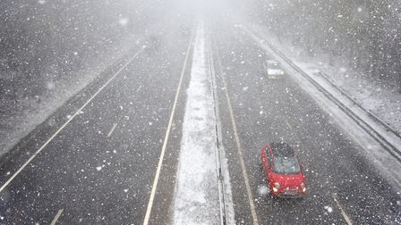 Drivers are being urged to take care in the treacherous conditions.Picture: ANTONY KELLY
