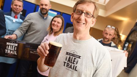 The Ale Trail has been launched at the One Bull. Pictured is Mike Kirkham. Picture: GREGG BROWN
