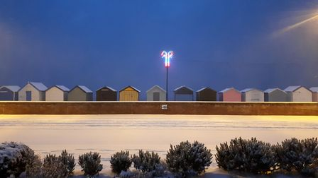 Felixstowe Seafront in the snow. Picture: CHRIS CLOVER