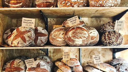 Bread on display at The Box, Southwold.
