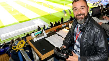 BBC Radio Suffolk football commentator Brenner Woolley pictured before the Ipswich Town v Bolton Wan