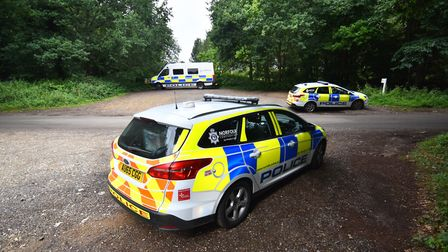 Police at the scene in East Harling on August 5 last year. Picture : ANTONY KELLY