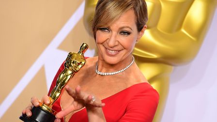 Allison Janney with her Actress in a supporting role Oscar for I, Tonya in the press room at the 90t
