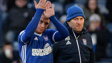 Joe Garner has recovered from a succession of knocks to be fit to face Sheffield Wednesday. Picture