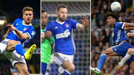 Mick McCarthy wanted to use a midfield three of (l-r) Emyr Huws, Cole Skuse and Tom Adeyemi. Picture