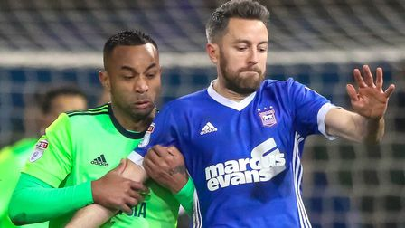 Cole Skuse is set to make his 200th Ipswich Town at Sheffield Wednesday. Picture: STEVE WALLER