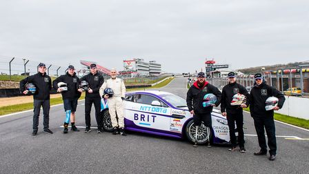 Braintree's warren McKinlay (far left) and Colchester's Ash Hall (third right) with Damon Hill at th