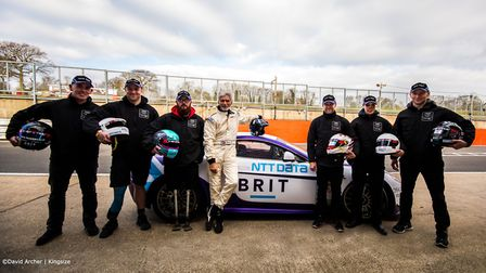 Warren McKinlay from Braintree (far left) and Ash Hall from Colchester (third left) with Damon Hill