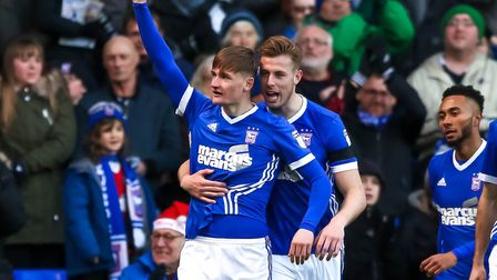 Callum Connolly has thanked the Ipswich Town fans. Picture: STEVE WALLER