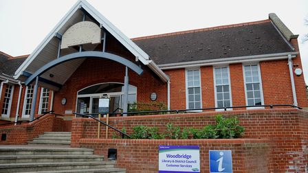 Woodbridge Library where the evening will be held. Picture: SIMON PARKER
