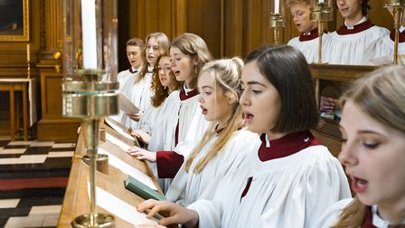 Clare College Choir will perform at St Mary's Church in Bury St Edmunds in April. Picture: NICK RUTT