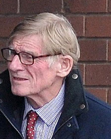 Roger Morris leaving magaistrates' court in Ipswich. Picture: ARCHANT