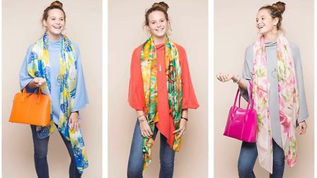 These silk scarves make every outfit look great. Picture: TILLEY & GRACE