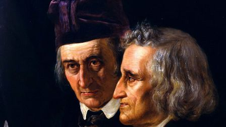 The Brothers Grimm by Elisabeth Jerichau-Baumann. Picture: WIKICOMMONS