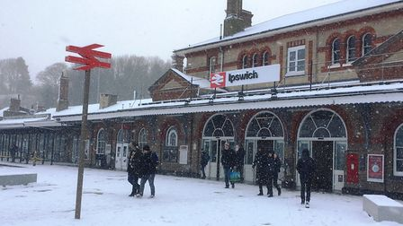 The snow hit train services. Picture: PAUL GEATER